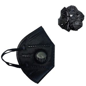 Kn95 5pc Fabric Face Mask W/Valve Non Medical Use
